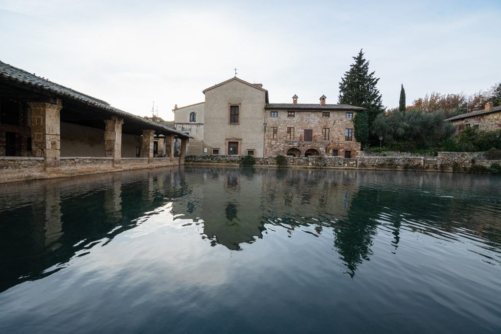 Bagno Vignoni im Orciatal.