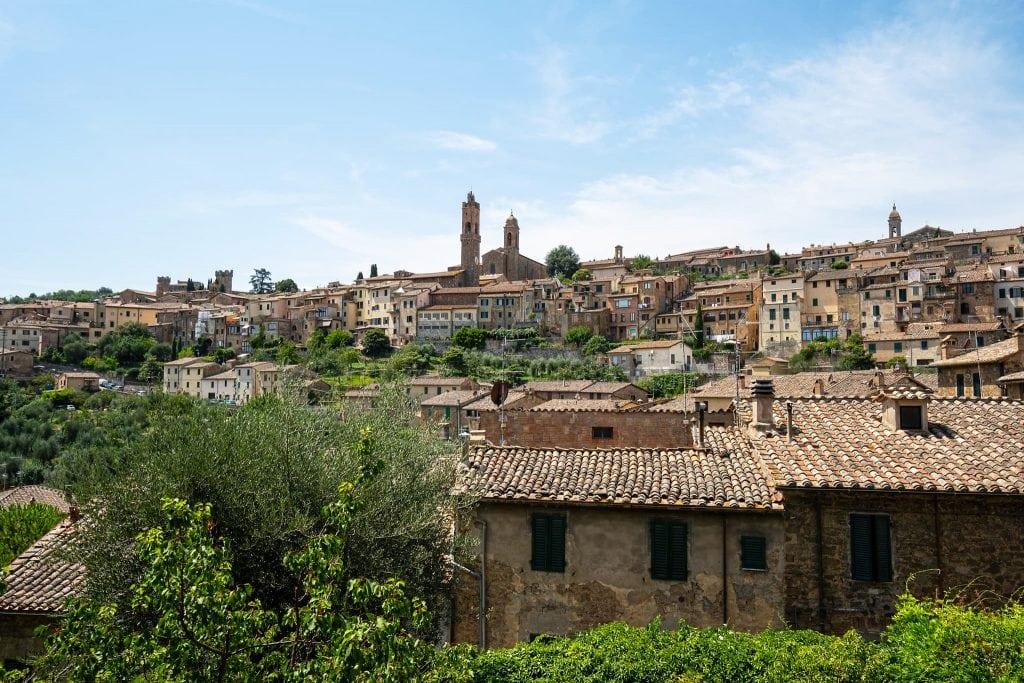 Blick auf Montalcino.