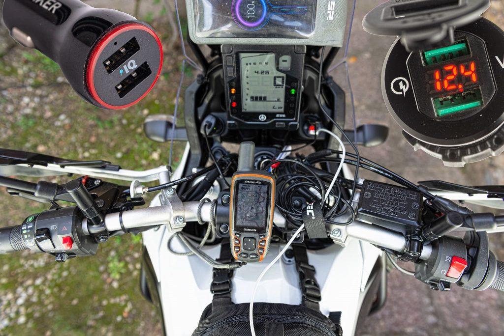 USB Steckdosen für die YAMAHA Tenere 700.