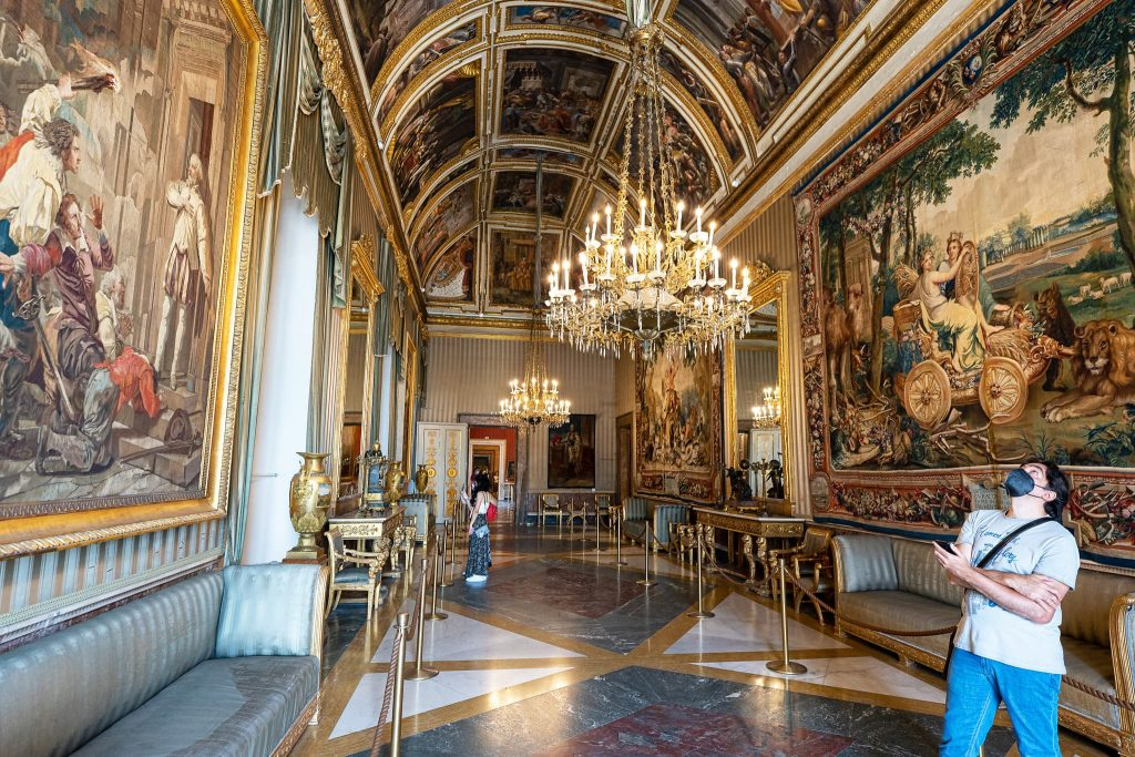 Galerie im Palazzo Reale Neapel.