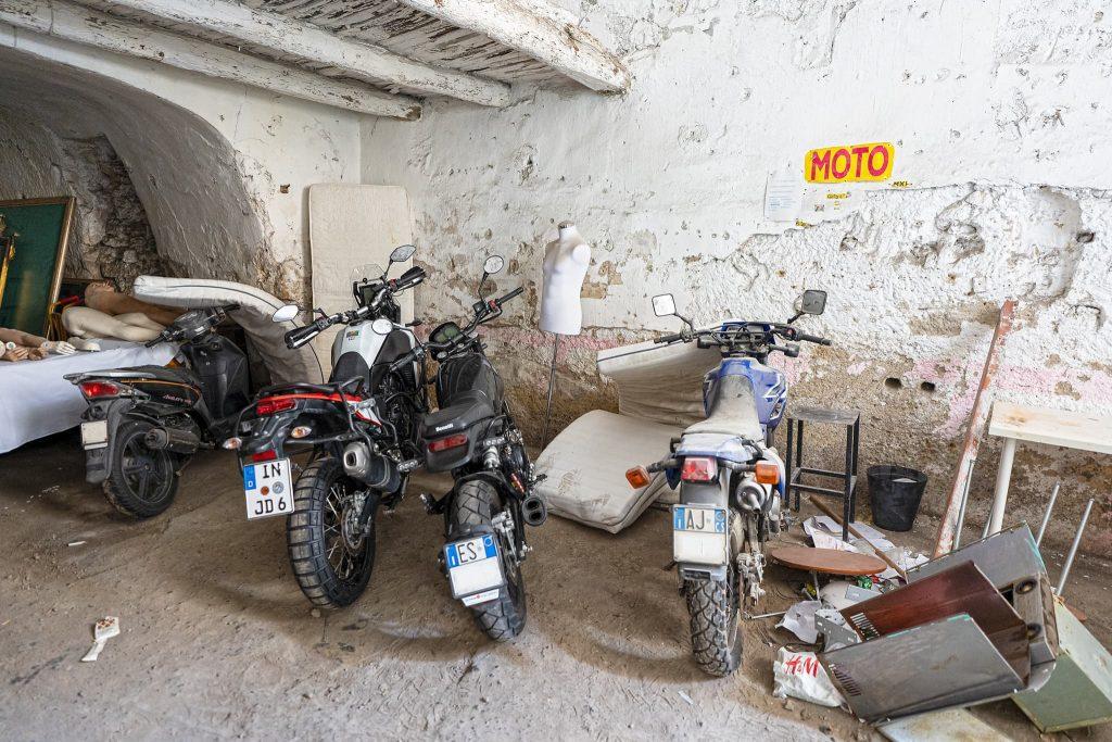 Garage in Neapel.