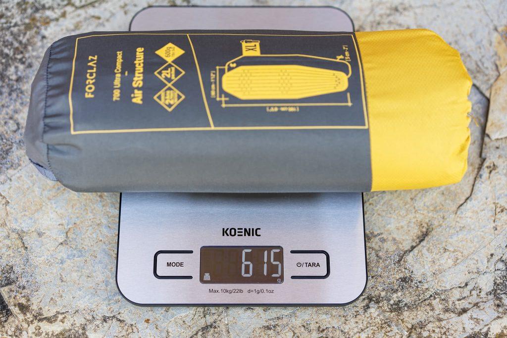 Gewicht der Decathlon Isomatte.