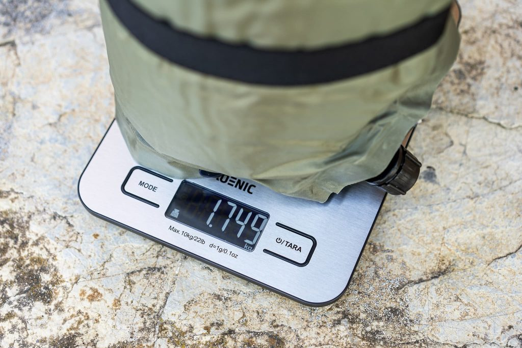 Selbstaufblasbare Isomatte Gewicht.