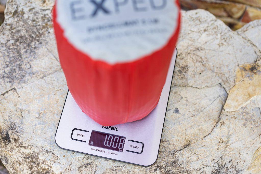 Gewicht meiner Thermo-Luftmatratze.